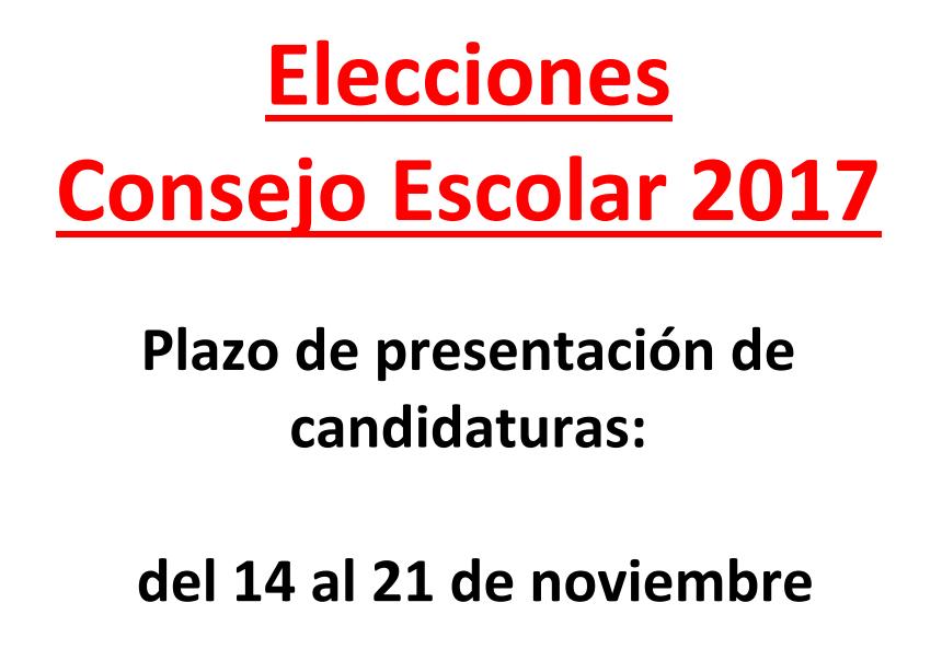 Elección y Constitución del Consejo Escolar del Centro 2017