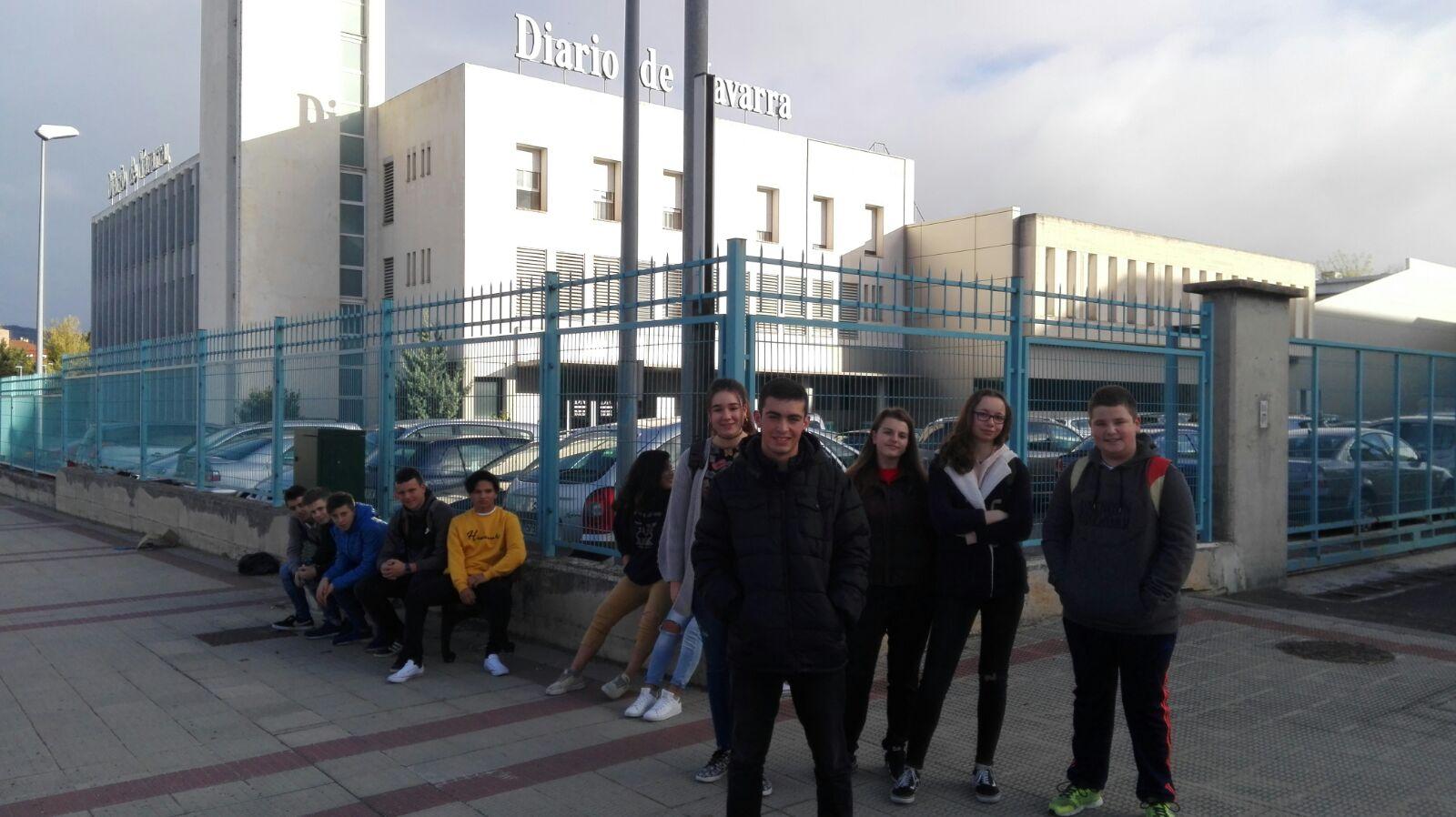Visita de los alumnos de 4º de ESO al Diario de Navarra